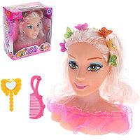 Кукла манекен для создания причёсок «Маленький парикмахер» с аксессуарами, звуковые эффекты