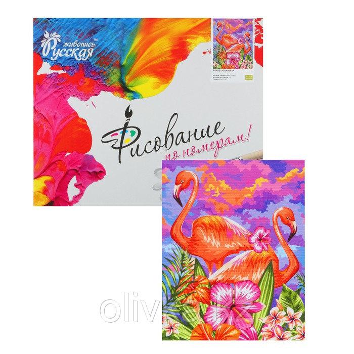 Картина по номерам «Яркие фламинго» 40 × 50 см