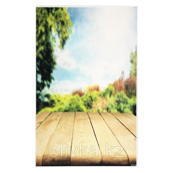 """Фотофон винил """"Солнечное утро в лесу"""" стена+пол 81,5х127,5 см"""