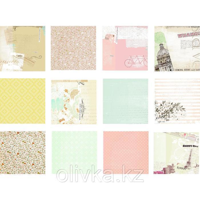 """Набор бумаги """"Радужные краски"""" 30.5смх30.5см, 24 листа+3 листа вырубки"""
