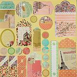 """Набор бумаги """"Радужные краски"""" 30.5смх30.5см, 24 листа+3 листа вырубки, фото 7"""