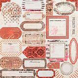 """Набор бумаги """"Королевские розы"""" 30.5смх30.5см, 24 листа+3 листа вырубки, фото 6"""
