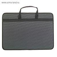 Папка А3 с ручками текстильная 420х300х60 мм 1С33 «Любань» серая