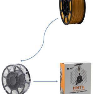 """Пластик для 3D печати """"НИТ"""", PLA горчичный 1 кг., фото 2"""