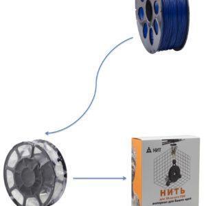"""Пластик для 3D печати """"НИТ"""", PLA кобальтово-синий 1 кг., фото 2"""