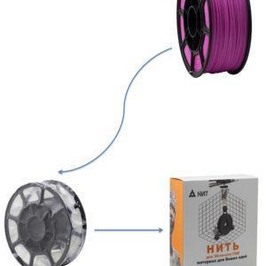 """Пластик для 3D печати """"НИТ"""", PLA флуоресцентный розовый 1 кг., фото 2"""