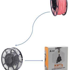 """Пластик для 3D печати """"НИТ"""", PLA розовый 1 кг., фото 2"""