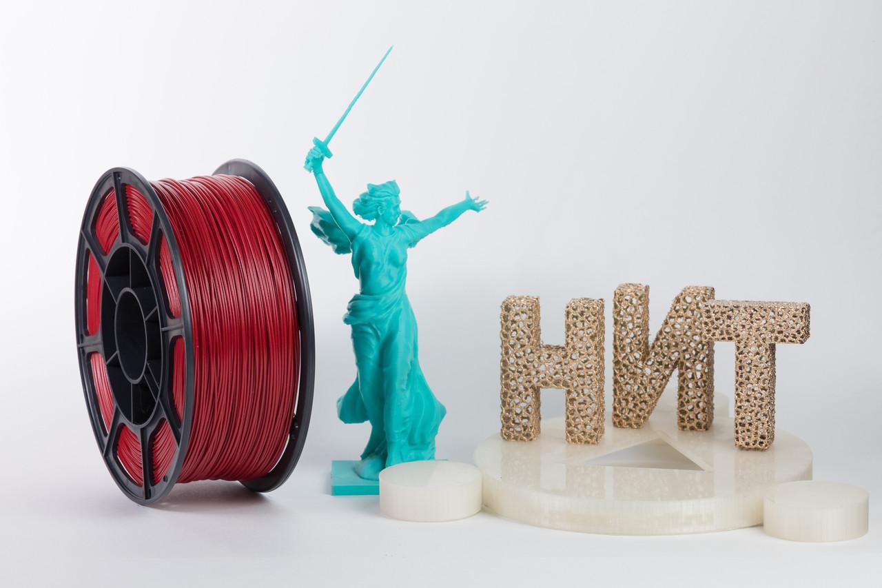 """Пластик для 3D печати """"НИТ"""", ABS Вишня 1 кг."""
