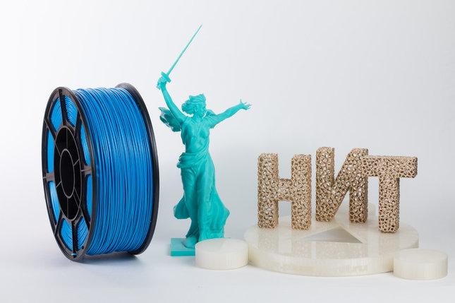 """Пластик для 3D печати """"НИТ"""", ABS Голубой 1 кг., фото 2"""
