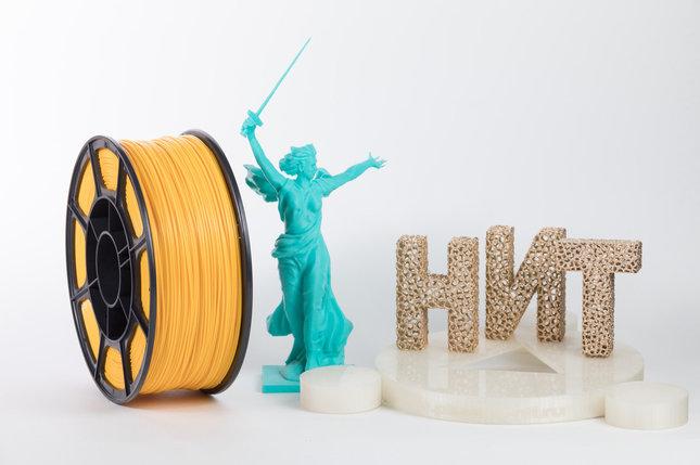 "Пластик для 3D печати ""НИТ"", ABS Желтый 1 кг., фото 2"