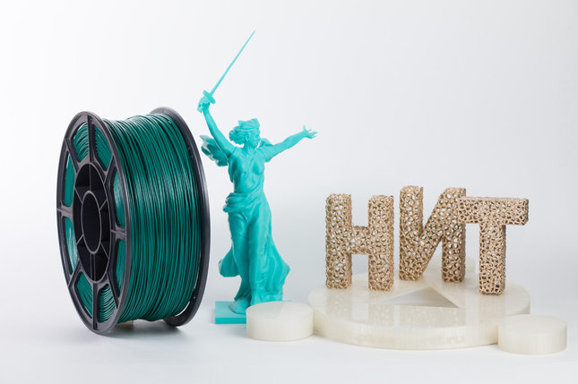 "Пластик для 3D печати ""НИТ"", ABS Изумруд 1 кг., фото 2"