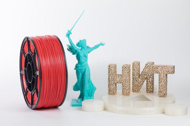 """Пластик для 3D печати """"НИТ"""", ABS Красный 1 кг., фото 2"""