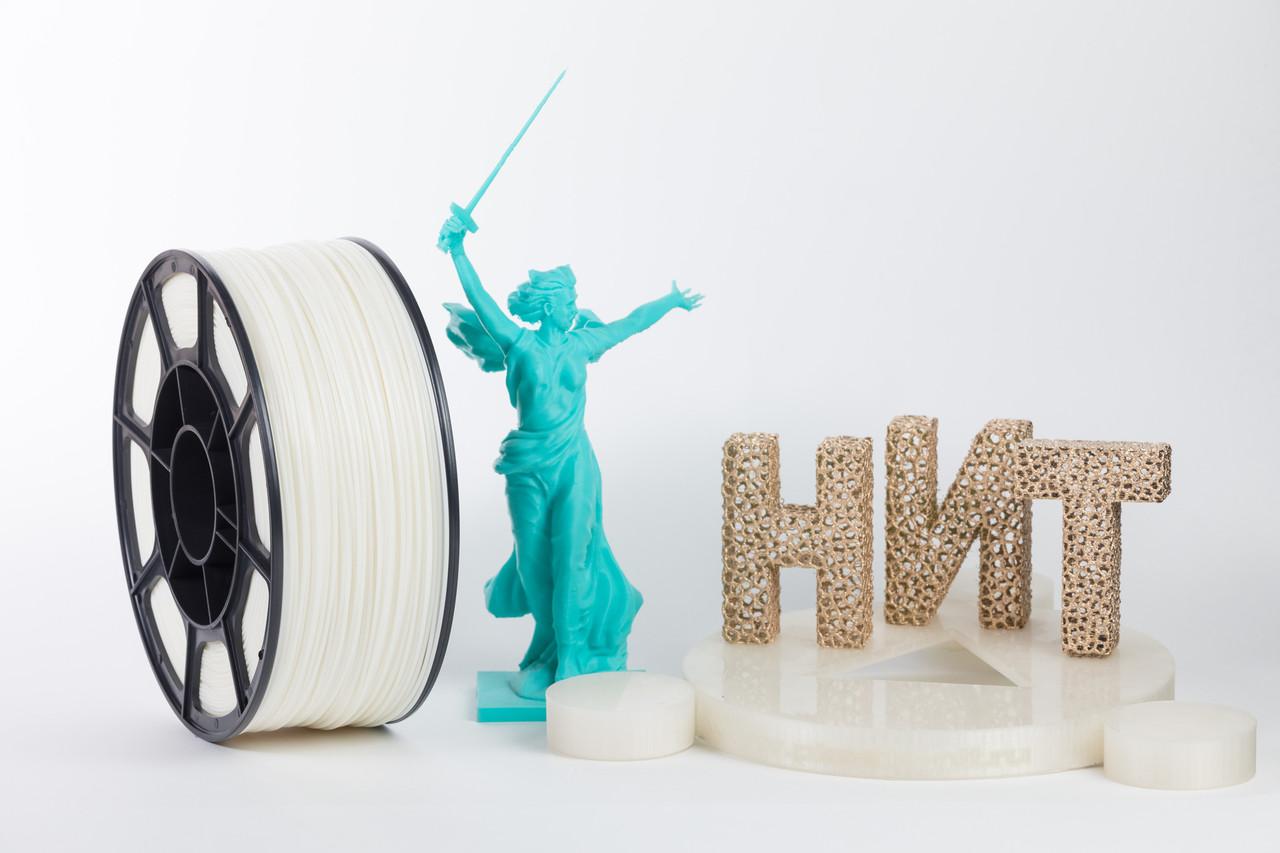 """Пластик для 3D печати """"НИТ"""", ABS Натуральный 1 кг."""