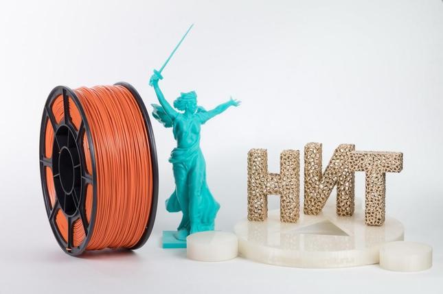 "Пластик для 3D печати ""НИТ"", ABS Оранжевый 1 кг., фото 2"