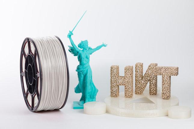"""Пластик для 3D печати """"НИТ"""", ABS Перламутрово-белый 1 кг., фото 2"""