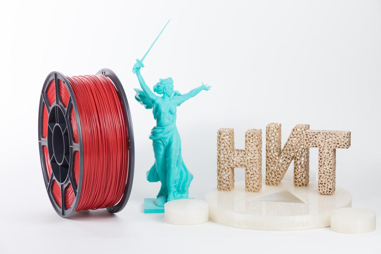 """Пластик для 3D печати """"НИТ"""", ABS Перламутрово-рубиновый 1 кг."""