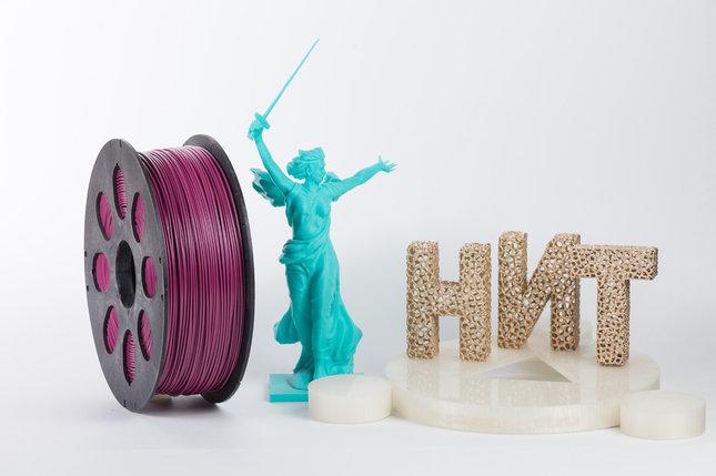 "Пластик для 3D печати ""НИТ"", ABS Перламутрово-пурпурный 1 кг., фото 2"
