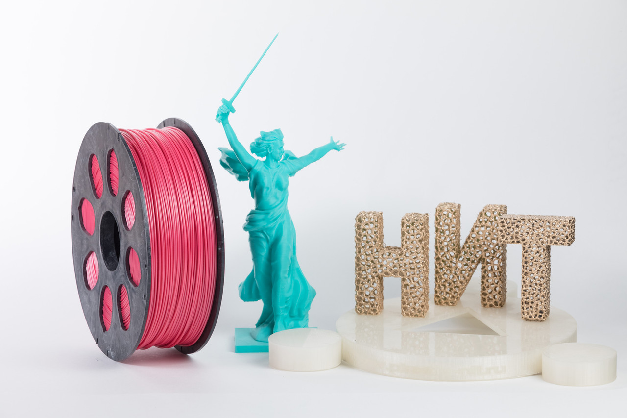 "Пластик для 3D печати ""НИТ"", ABS Розовый 1 кг."