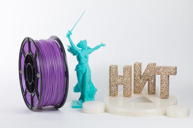 """Пластик для 3D печати """"НИТ"""", ABS Фиолетовый 1 кг., фото 2"""