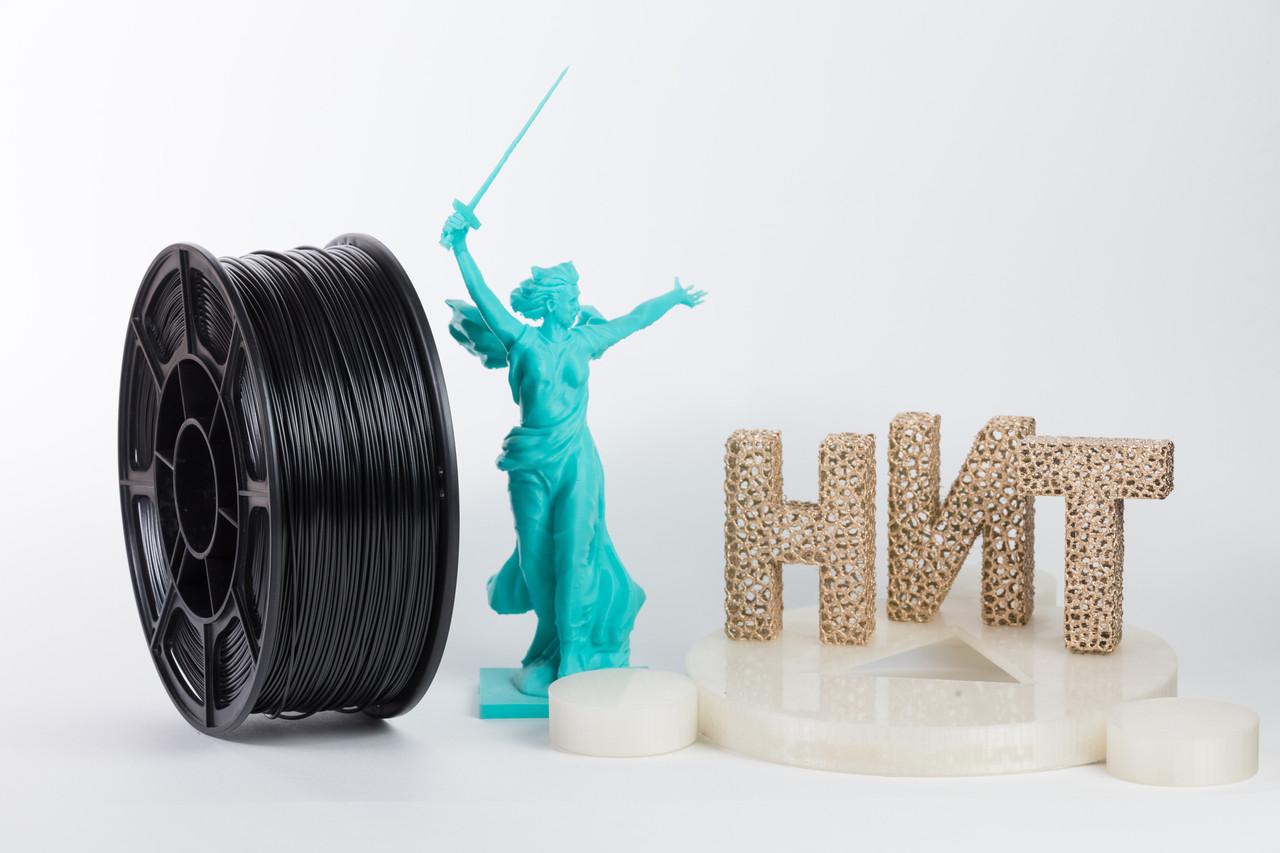 """Пластик для 3D печати """"НИТ"""", ABS Черный 1 кг."""