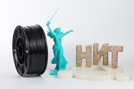 """Пластик для 3D печати """"НИТ"""", ABS Черный 1 кг., фото 2"""