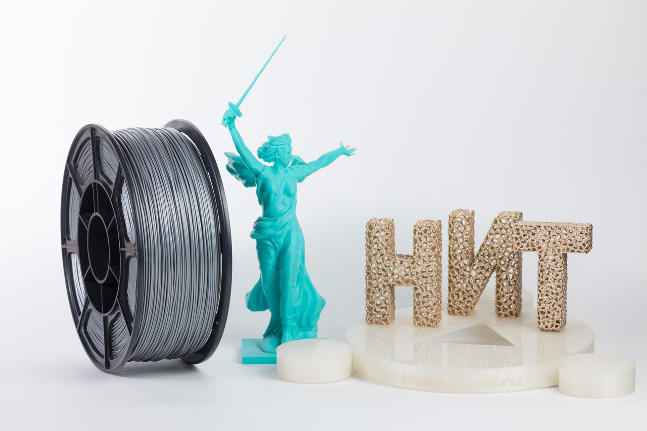 "Пластик для 3D печати ""НИТ"", ABS Серебро 1 кг."