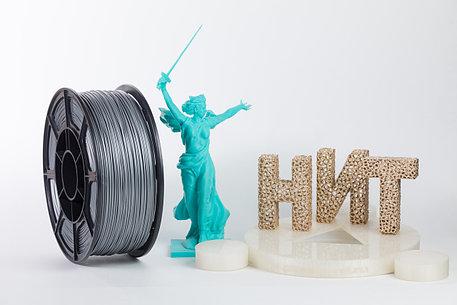 "Пластик для 3D печати ""НИТ"", ABS Серебро 1 кг., фото 2"