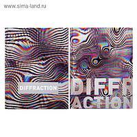 Бизнес-блокнот А5, 80 листов Diffraction, твёрдая обложка, матовая ламинация, металлизация, МИКС