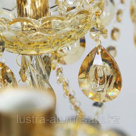 Люстра Классика 5001/12+6 GD Glass, фото 2