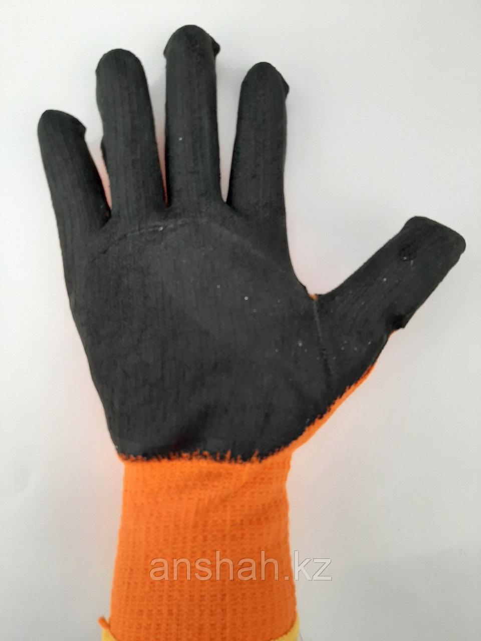 Прорезиненые плотные перчатки оранжевые  300#  оригинал