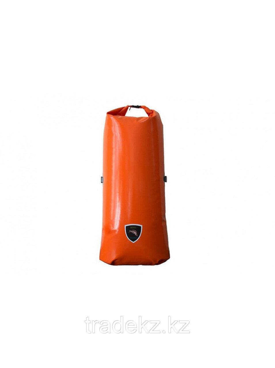 Герморюкзак 110 л. Берег ПВХ 650 гр/м2. С магнитной застежкой и лямками. Вес 1,4 кг.