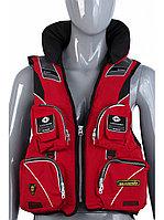 Жилет спасательный SEANOVO SJ11, красный, накладные карманы, размер XXXL (58-60)