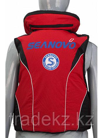 Жилет спасательный SEANOVO SJ11, красный, накладные карманы, размер XXXXL (60+), фото 2
