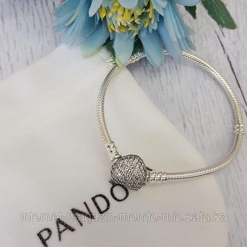 Браслет Pandora с сердечком. Серебро 925 пробы.