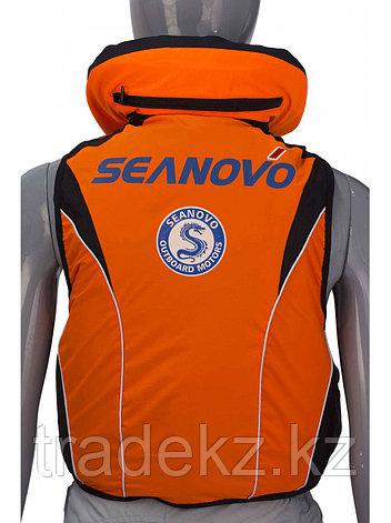 Жилет спасательный SEANOVO SJ11, оранжевый, накладные карманы, размер XXXL (58-60), фото 2