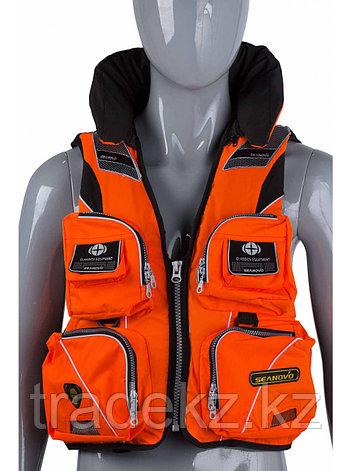 Жилет спасательный SEANOVO SJ11, оранжевый, накладные карманы, размер XXXXL (60+), фото 2