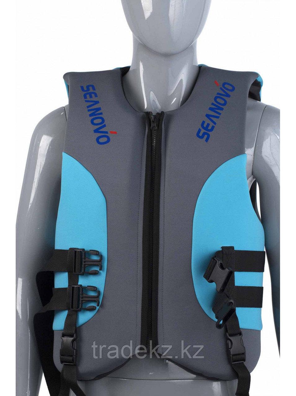 Жилет спасательный SEANOVO SJ36, неопрен, голубой/черный, размер XXXL (58-60)