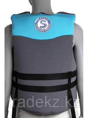 Жилет спасательный SEANOVO SJ36, неопрен, голубой/черный, размер XXXL (58-60), фото 2