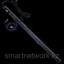 Блок розеток 4xC19+20xC13 с мониторингом, вертикальный, 16A/32A