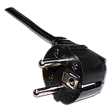 Шнур питания C13-Schuko угловая, 3х0.75, 220В, 10А, фото 2