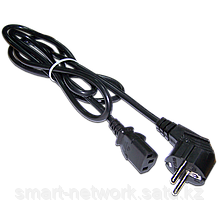 Шнур питания C13-Schuko угловая, 3х0.75, 220В, 10А
