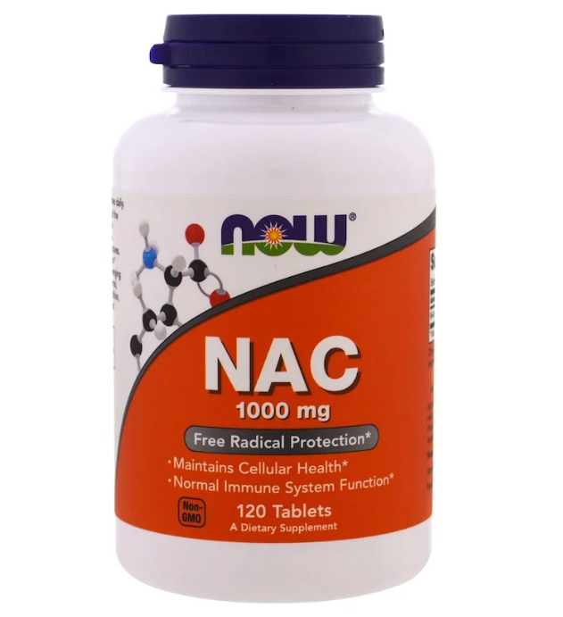 Now Foods, NAC, 1000 мг, 120 таблеток
