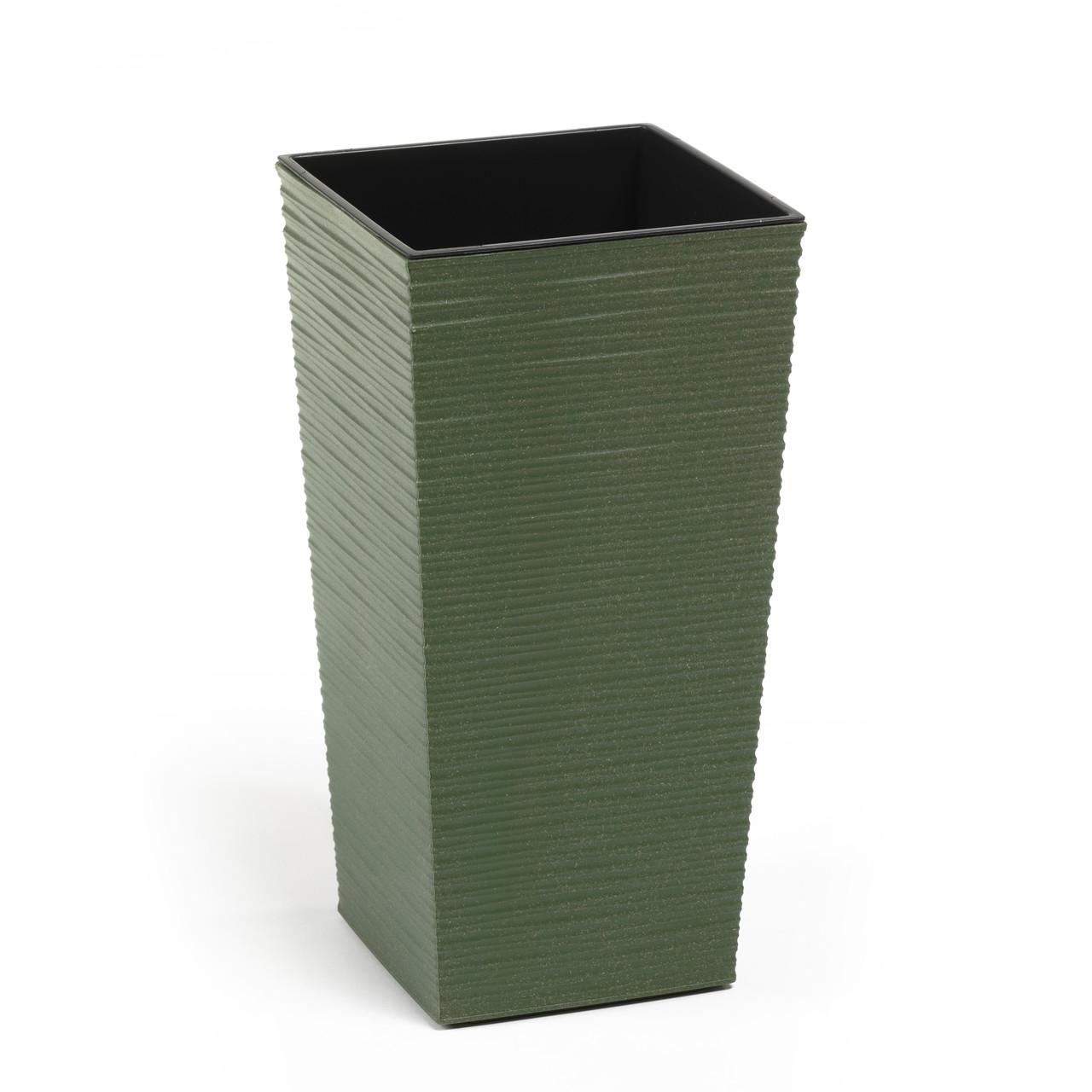 Горшок Finezja Lamela Эко 250x250 Dluto - лесной зеленый