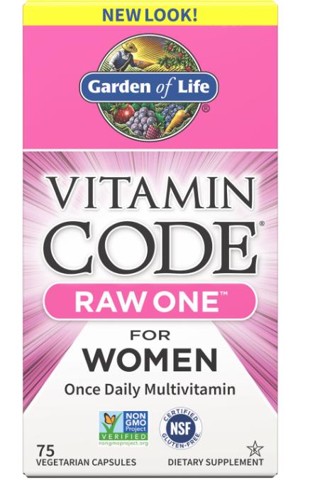 Garden of Life, Vitamin Code, Raw One, мультивитаминная добавка из сырых ингредиентов для женщин
