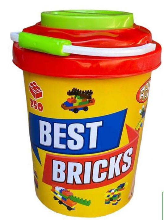 Best Bricks конструктор в ведре 250дет 33*23см
