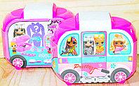 JX897 SURPRISE DINING CAR Вагончик косметичка набор для маникюра,расческа, 9шт в упаковке,17*13см, фото 1