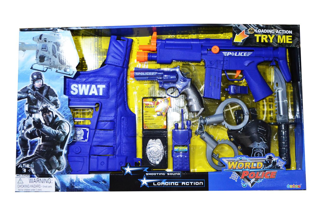 33520 World Police полицейский набор с  жилетом,9 предметов, 66*38см