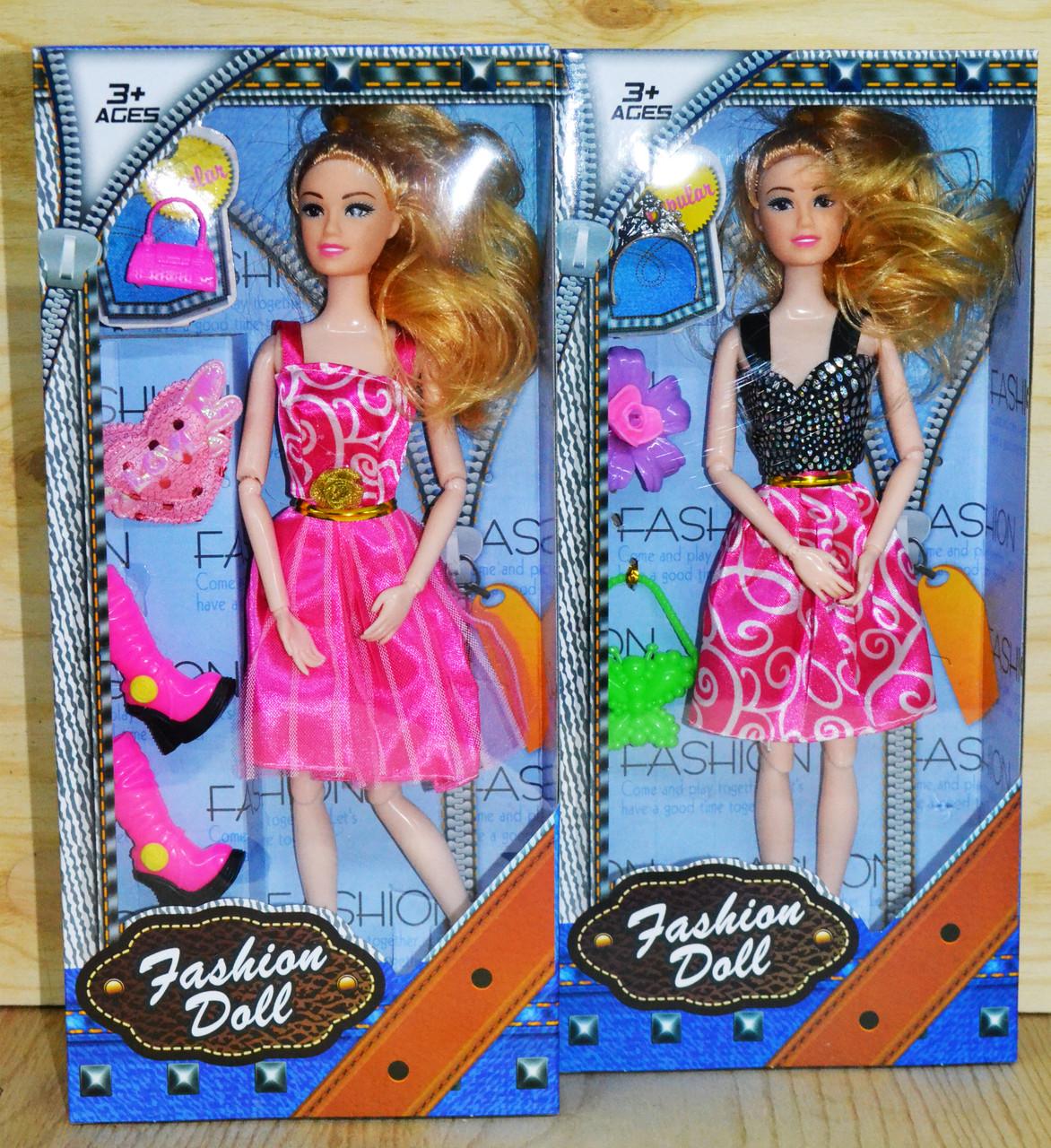 ZR-097 Барби Fashion Models с аксесс. 4 вида (конечности подвижны) цена за 1шт., 32*15см