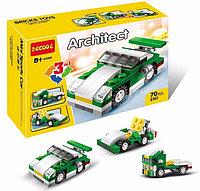 3101 Констр. Машина Architect 3 в 1  (зеленый) 70 деталей 16*11см, фото 1