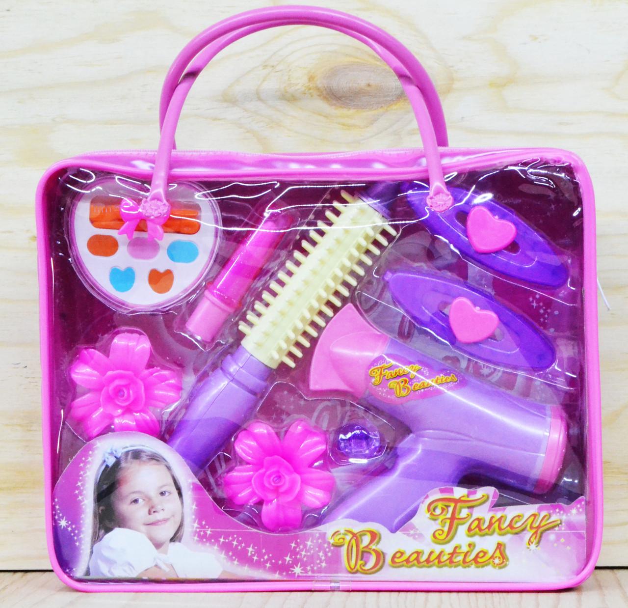 A208/210 Фен набор в сумочке 8 предметов Fancy Beauties  27*24см
